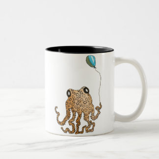 Cephalopod with Balloon Two-Tone Mug