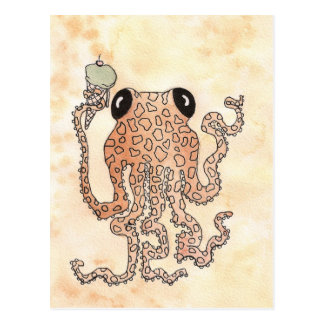 Cephalopod with Ice Cream Cone Postcard