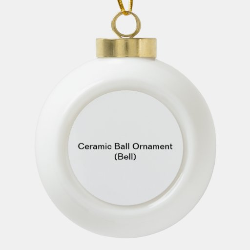 Ceramic Ball Ornament (Bell)