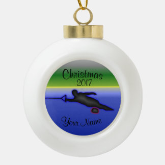 Ceramic Ball Water Ski Christmas Ornament