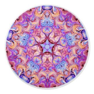 Ceramic Drawer Knob Kaleidoscope Star