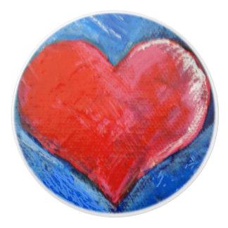 Ceramic Knob Heart
