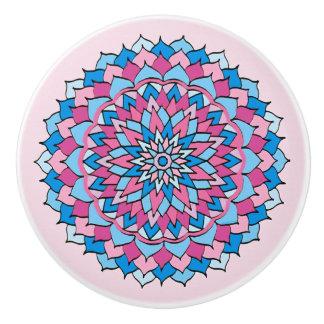 Ceramic Knob Lovely Pink and Blue Design