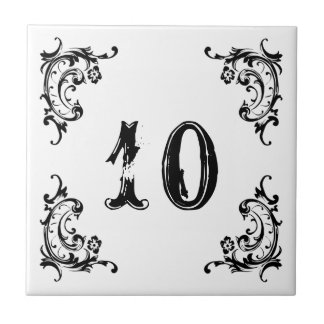 Ceramic Marble Door Number Small Square Tile