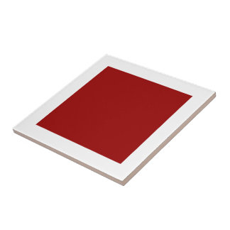 Ceramic Maroon Tile by Janz 4.25x4.25