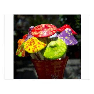Ceramic mushrooms postcard