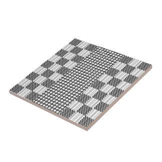 Ceramic Photo Tile Black and White Design