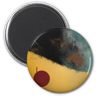 Ceramic Pixels Abstract pressionistiArt 6 Cm Round Magnet