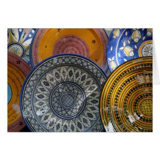 Ceramic Plates Card