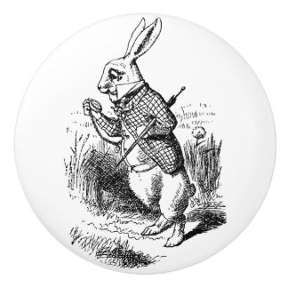 Ceramic Pull - Alice in Wonderland Theme, Rabbit
