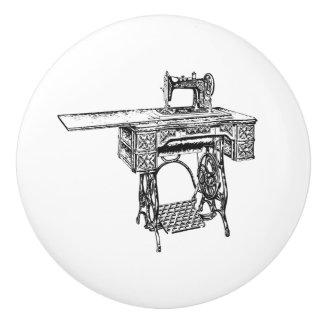 Ceramic Pull - Vintage Sewing Theme, Singer