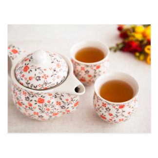 Ceramic Tea Set Postcard