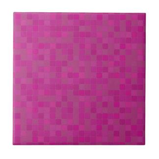 Ceramic tile in pink fuchsia mosaic pattern