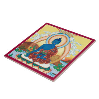 CERAMIC TILE- Medicine Buddha - The Healing Master Large Square Tile