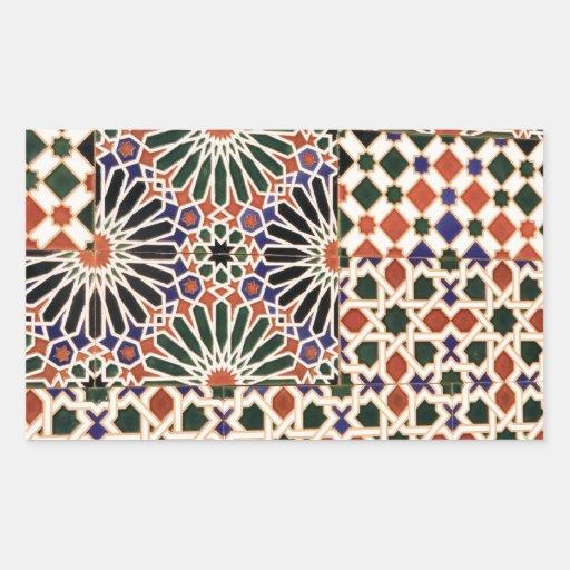 Ceramic tile mosaic design rectangle stickers