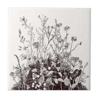 Ceramic Tile Natural Wildflowers