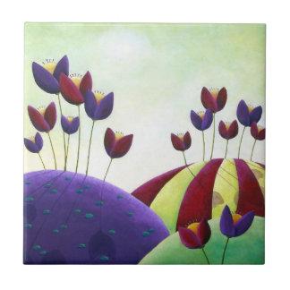 "Ceramic Tile ""Spring Blossoms"""