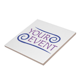 Ceramic Tile Trivet Company Event Logo Promotional