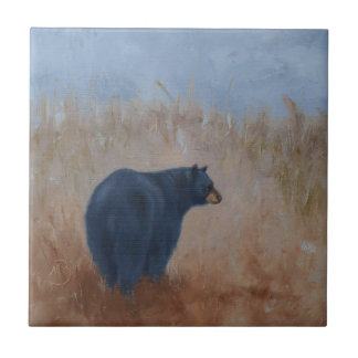 "Ceramic Tile with ""Rear View"" Bear"