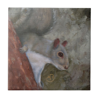 Ceramic Tile with Squirrel