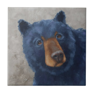 Ceramic Tile with Whimsical Bear #2