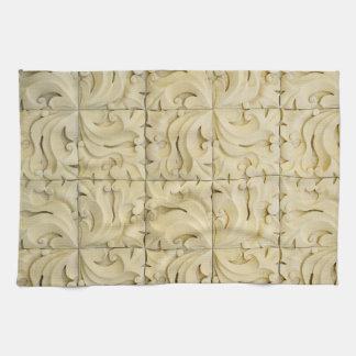 ceramic tiles pattern texture architecture stucco tea towel