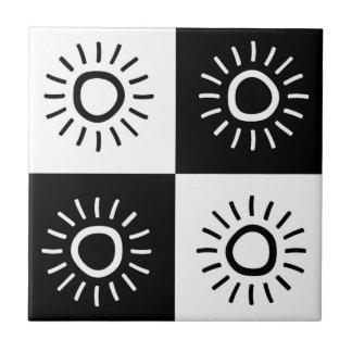 """Ceramics square """"The sun shine """" Ceramic Tiles"""
