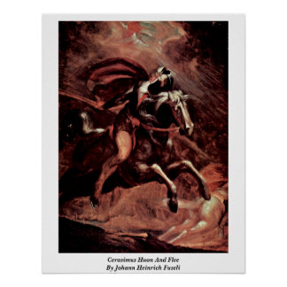 Cerasimus Huon And Flee By Johann Heinrich Fuseli Poster