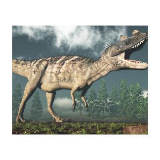 Ceratosaurus dinosaur - 3D render Canvas Print
