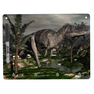 Ceratosaurus dinosaur - 3D render Dry Erase Board With Key Ring Holder