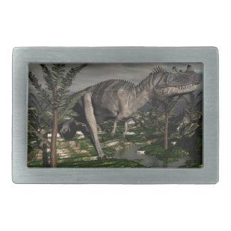 Ceratosaurus dinosaur - 3D render Rectangular Belt Buckle