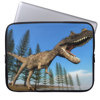 Ceratosaurus dinosaur at the shoreline - 3D render Laptop Sleeve