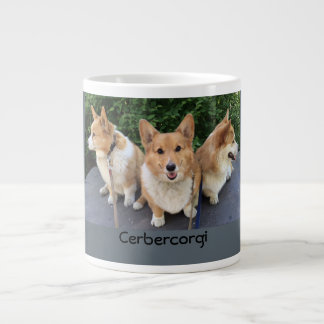Cerberus corgi photo mug