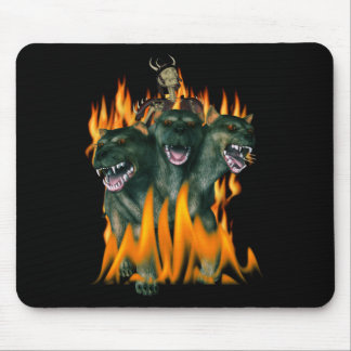 Cerberus In Hell Mouse Pad