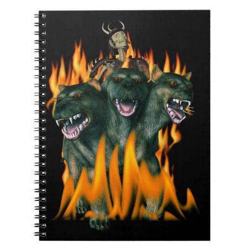 Cerberus In Hell Spiral Note Books