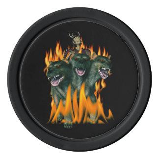 Cerberus In Hell Poker Chips