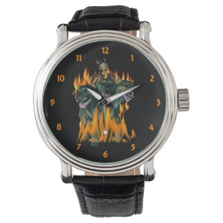 Cerberus In Hell Wrist Watches