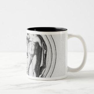 Cerberus Tamed by Hercules Mugs