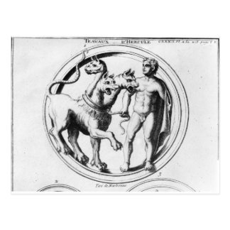 Cerberus Tamed by Hercules Post Card