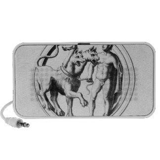 Cerberus Tamed by Hercules Portable Speaker