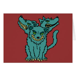 Cerberus - The Three Headed Hell Hound Greeting Card