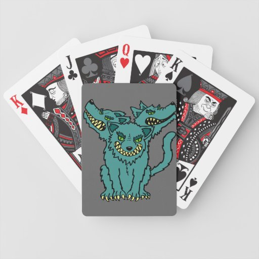 Cerberus - The Three Headed Hell Hound Playing Cards