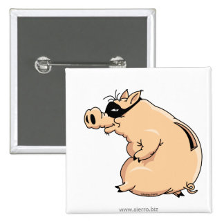 Cerdo Ladrón Botón