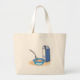 cereal and milk jumbo tote bag