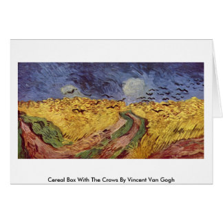 Cereal Box With The Crows By Vincent Van Gogh Card