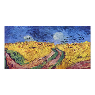 Cereal Box With The Crows By Vincent Van Gogh Custom Photo Card