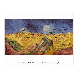 Cereal Box With The Crows By Vincent Van Gogh Postcard