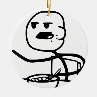 Cereal Guy Meme Ceramic Ornament