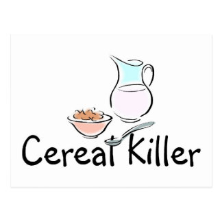 Cereal Killer Postcard