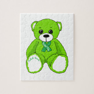 Cerebral Palsy Awareness Teddy Bear Products Jigsaw Puzzle